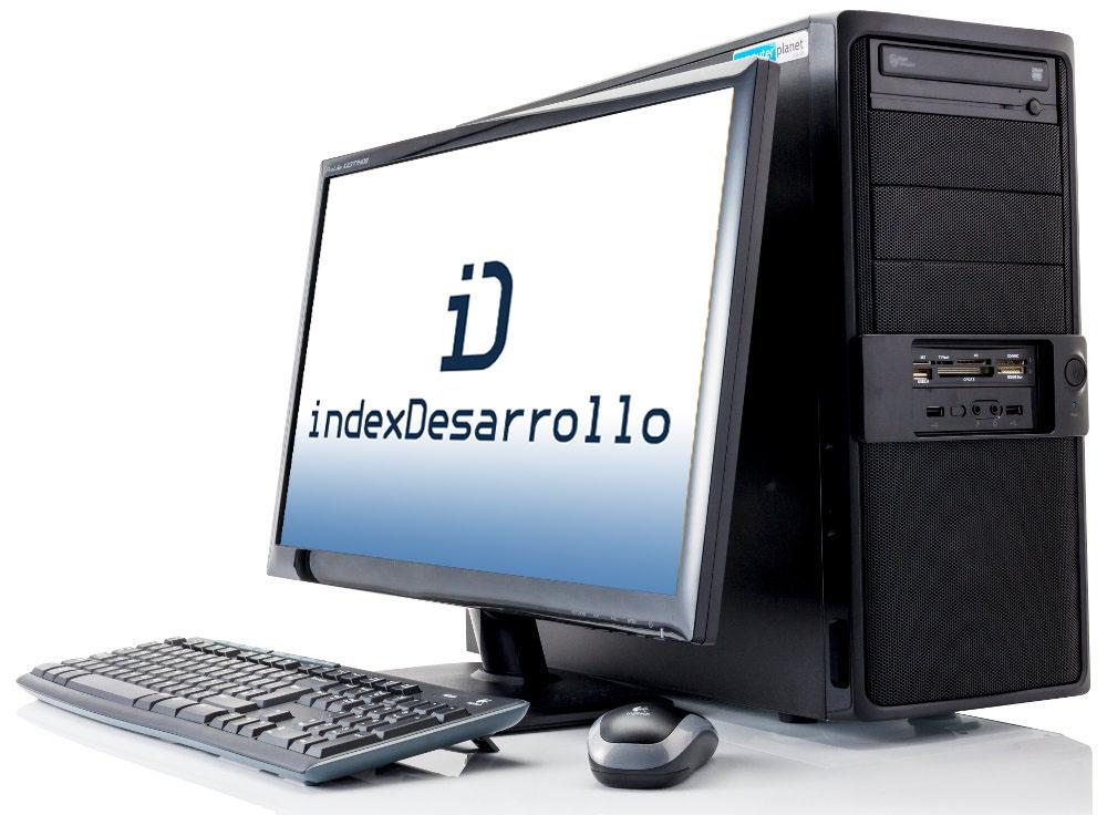 ordenador con logotipo de indexDesarrollo