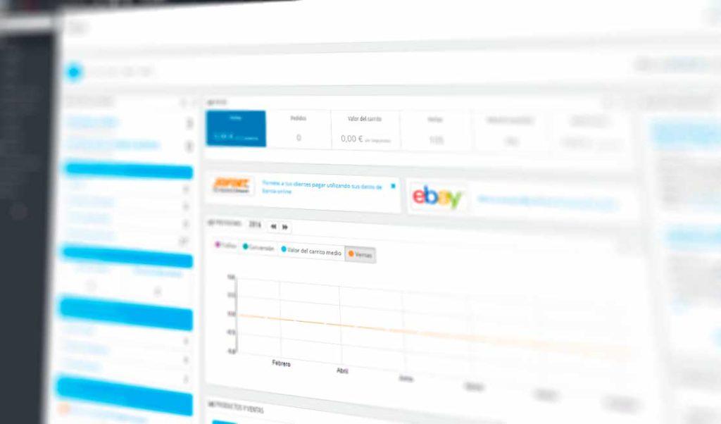 Parte trasera de diseño web de una tienda online