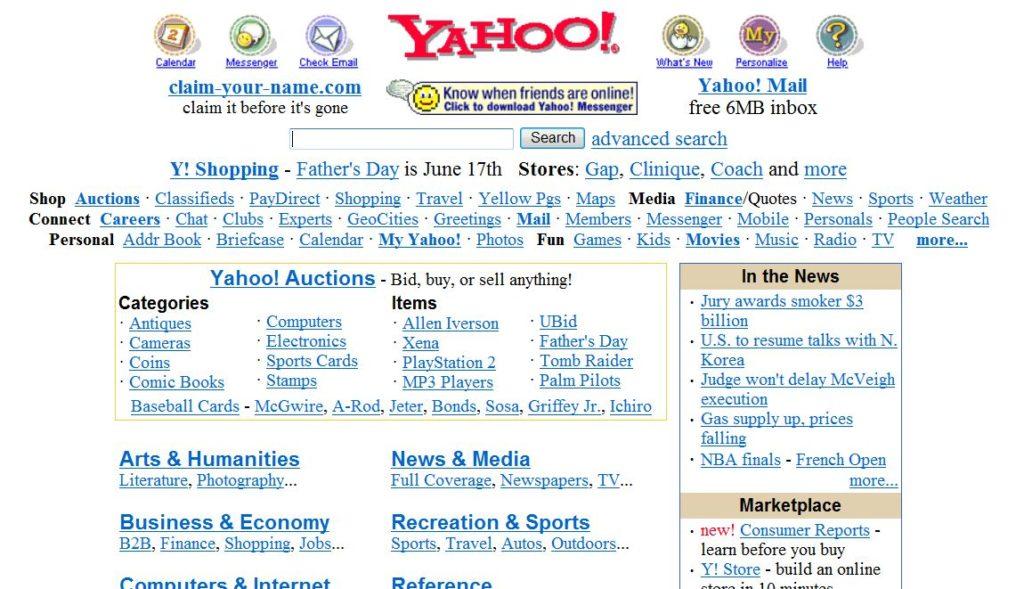 fotografía en Internet Yahoo