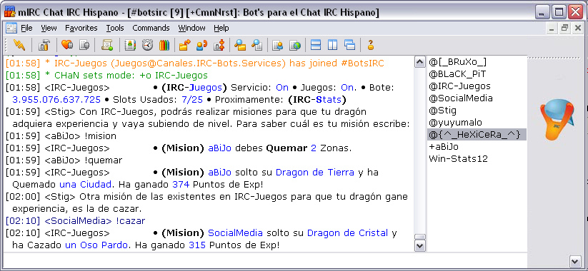 Tecnologías obsoletas en Internet irc