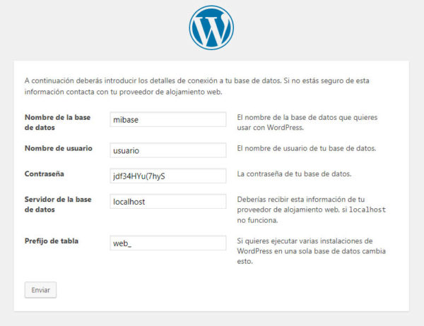 Cómo instalar WordPress en un hosting Base de Datos